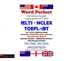 WORD PERFECT INTERNATIONAL ENGLISH LANGUAGE REVIEW CENTRE
