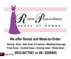 R-ian Pamintuan House of Gowns