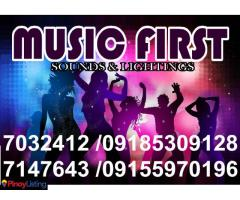 MUSIC FIRST Professional Sound System Lights Rental Manila@7032412,7147643,09185309128