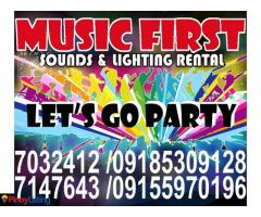 Sound System Rental,Mobile Disco Party Lights for Rent.@7032412,7147643,09155970196.