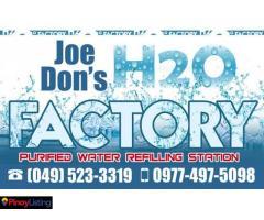 Joe Don's H2O Purified Water Refilling Station