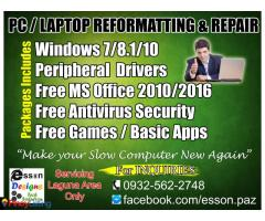 Esson PC LAPTOP REPAIR REFORMAT SERVICES LAGUNA