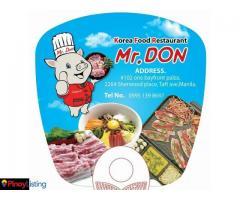 Mr. Don Korean Restaurant - Manila