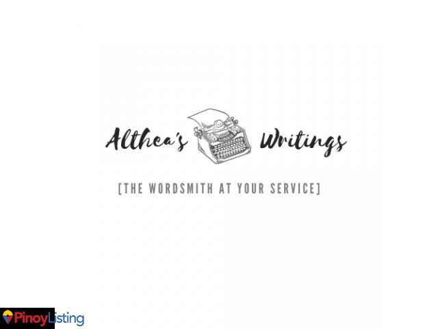 Althea's Writings
