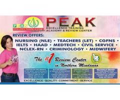 PEAK Excellence Review Center, Malaybalay Branch