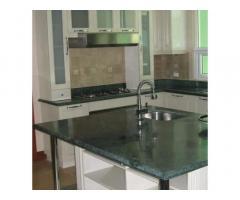 Kichen Granite Counter Top And Modular Cabinet