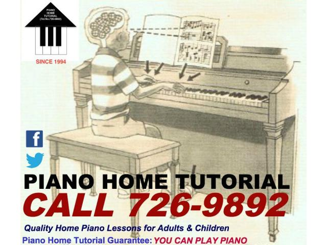 Piano Home Tutorial (Call 726-9892)-Quality Home Piano Lessons for Adults & Children