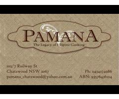 Pamana cafe and Filipino restaurant