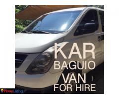 KAR Van for Hire