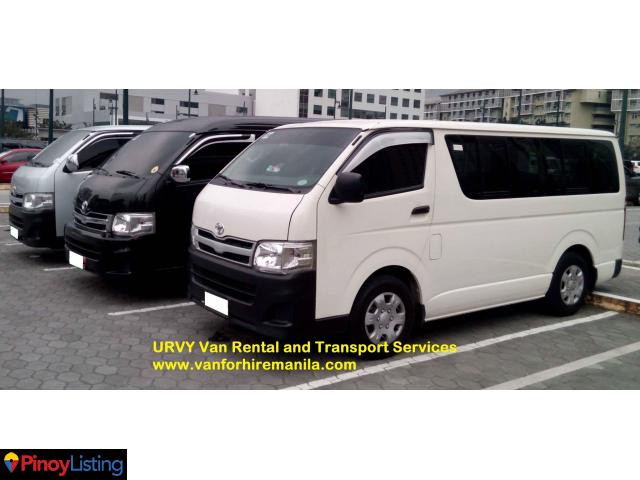 URVY van rental and transport service