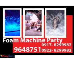 Foam Machine Party Rental Hire Manila Philippines