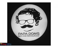 Papa Doms Bar and Restaurant Tagaytay City