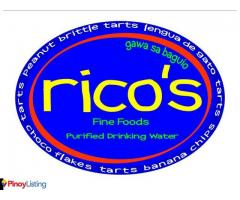Rico's Fine Foods and Purified Drinking Water