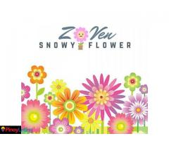 Zoven Snowy Flowers